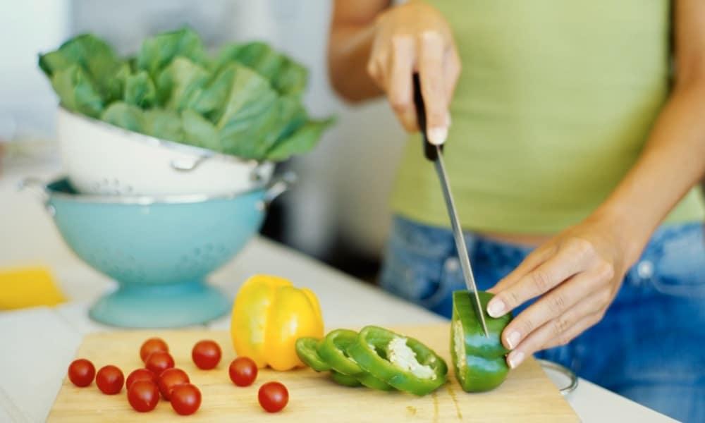 preparación comida dieta candidiasis