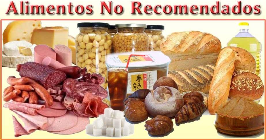 dieta candidiasis alimentos no recomendados