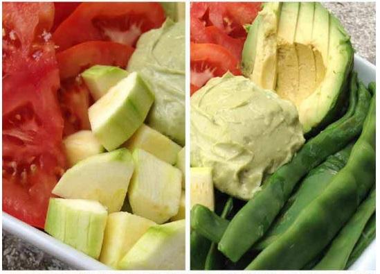 dieta candidiasis ensalada tomate aguacate